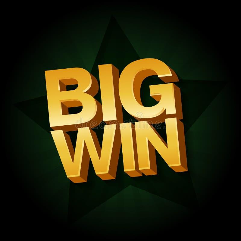 Big Win banner for online casino stock illustration