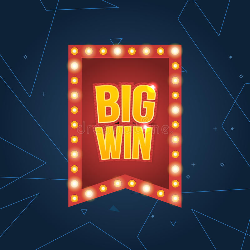 Big Win banner. royalty free illustration