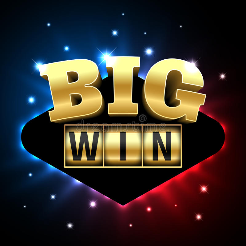 Big Win casino banner stock illustration