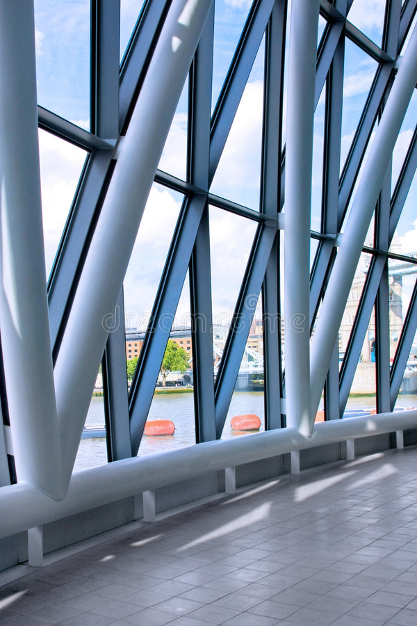 Download Big window stock image. Image of loft, geometric, glass - 7464107
