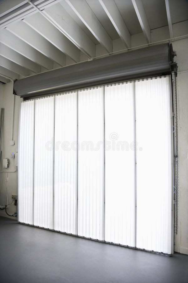Big window and blinds. stock images