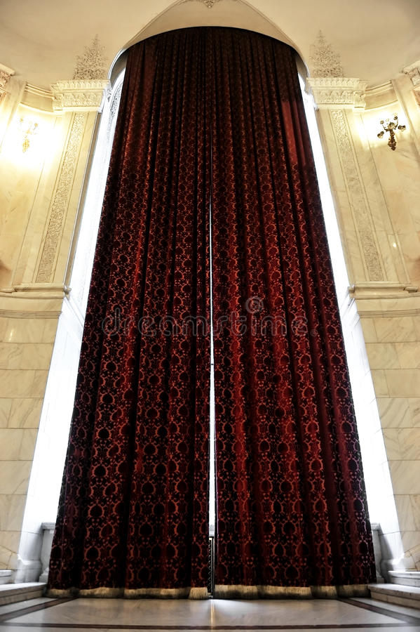 Download Big Window Curtains Stock Photo Image Of Transparent