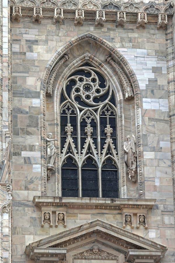 Milan Cathedral Window stock image