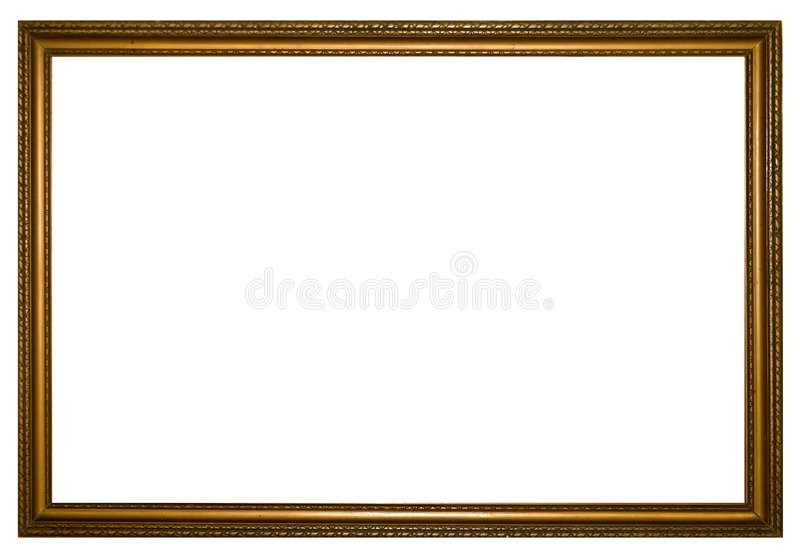 Big wood frame stock image