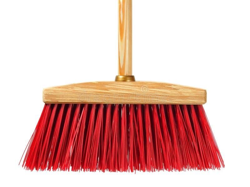 Big wooden broom stock photography