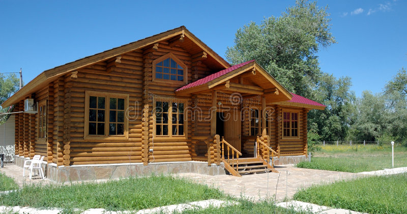 The big wooden house. stock images