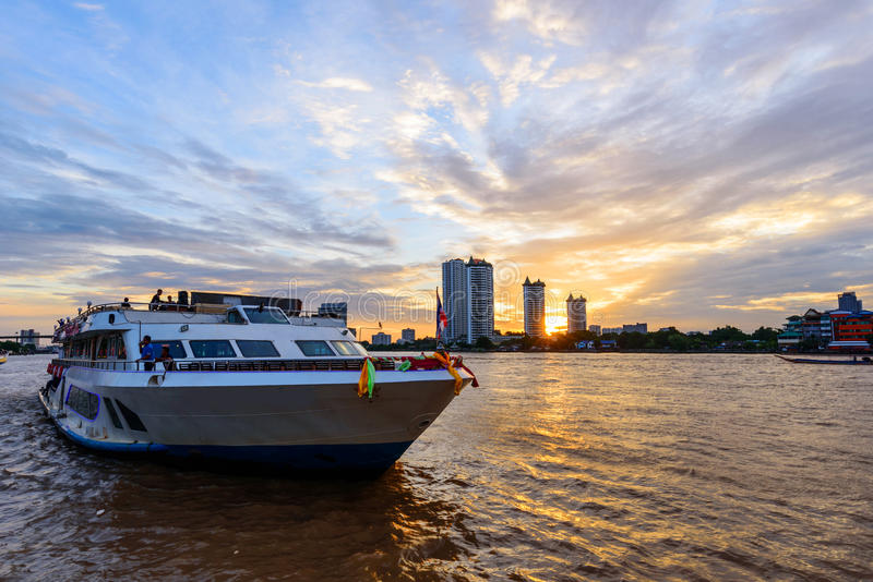 Big Yacht For Travel In River Editorial Stock Image ...