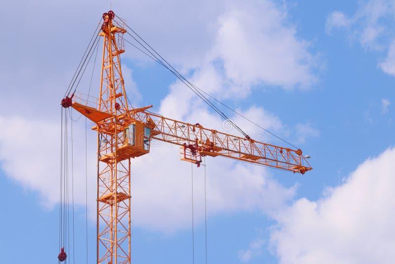 Big Yellow Stationary Hoist On Construction Site Stock Image Image