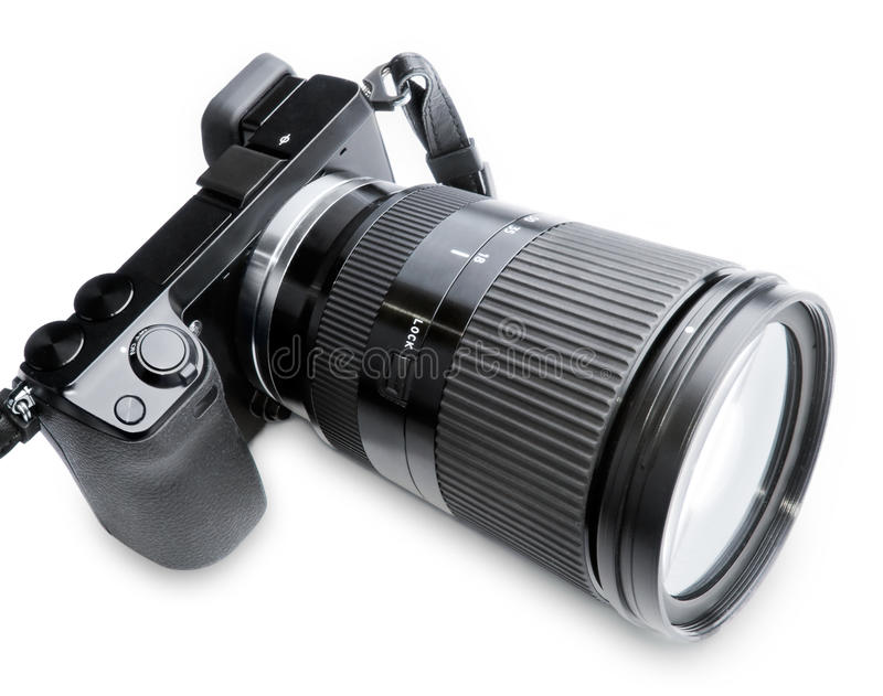 Download Big Zoom Camera stock image. Image of camera, black, snap - 22951929