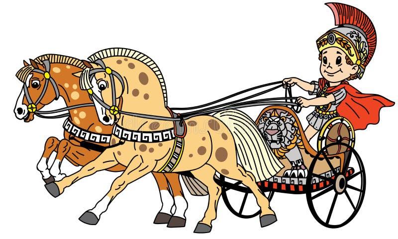 Biga romana dos desenhos animados ilustração stock