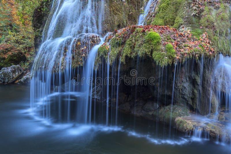 Bigar Cascade Falls in Nera Beusnita Gorges National Park, Romania royalty free stock photo