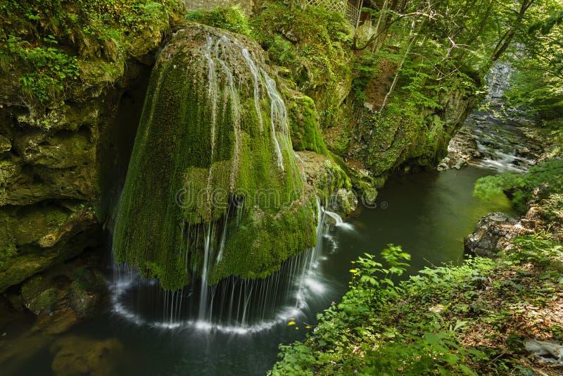 Bigar vattenfall, Caras Severin County, Rumänien, royaltyfri bild