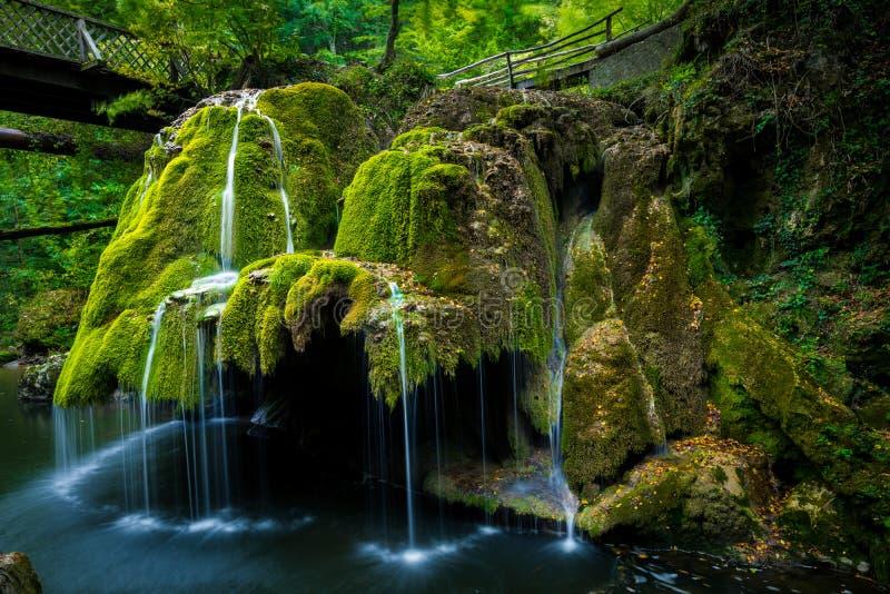 Bigar vattenfall i Rumänien fotografering för bildbyråer