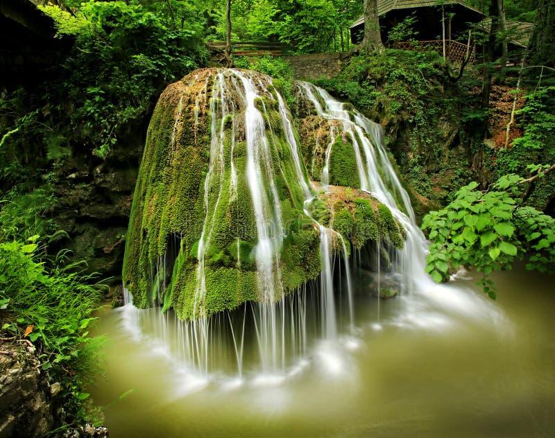 Bigar vattenfall, kortkort kanjon, Anina Mountains, Rumänien royaltyfria foton