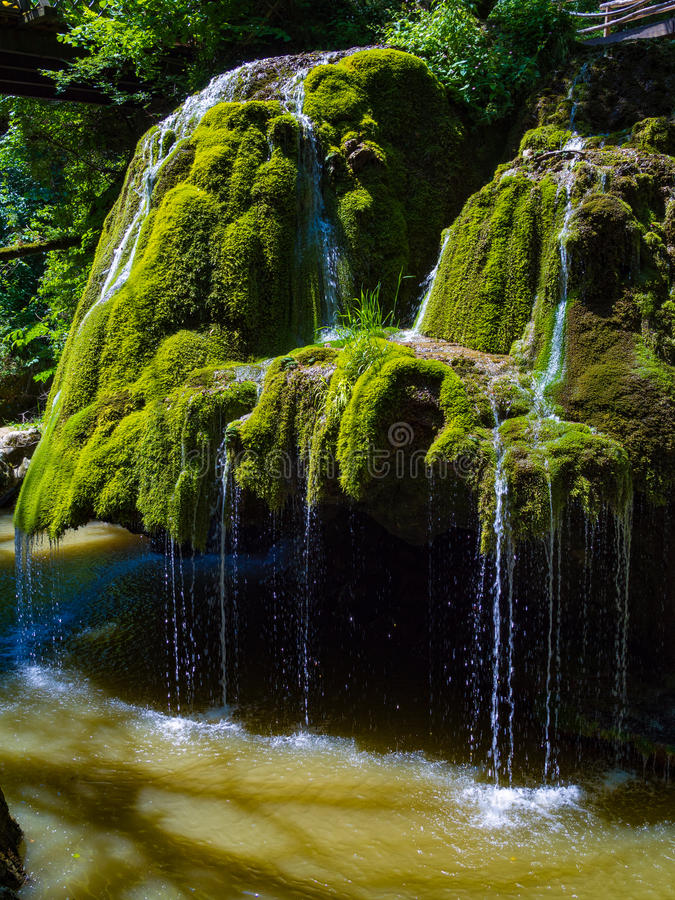 Bigar waterfall in Cheile Nerei national park royalty free stock photos