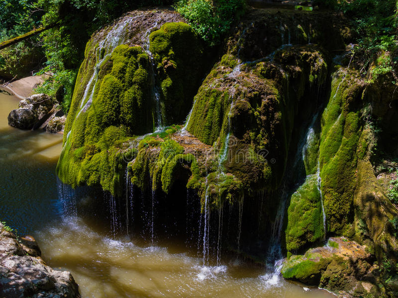 Bigar waterfall in Cheile Nerei national park stock photography