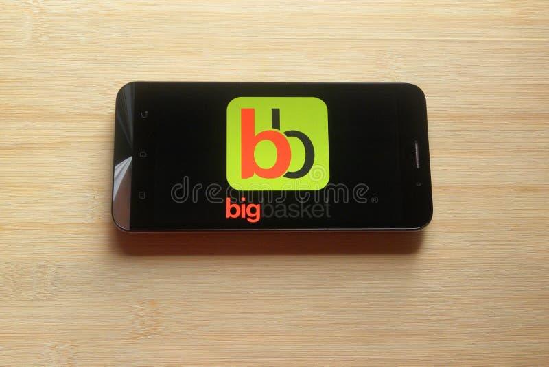 Bigbasket app στοκ φωτογραφία