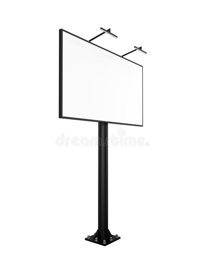 Bigboard in bianco con la lampadina illustrazione di stock