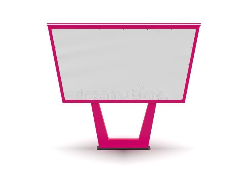 Bigboard in bianco E Annunciando sulla progettazione della posta di un tabellone per le affissioni Tabellone per le affissioni de royalty illustrazione gratis
