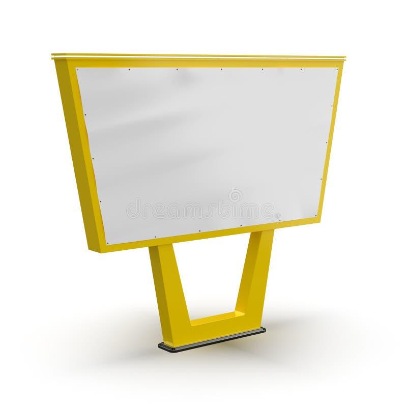 Bigboard in bianco E Annunciando sulla progettazione della posta di un tabellone per le affissioni Tabellone per le affissioni de illustrazione vettoriale