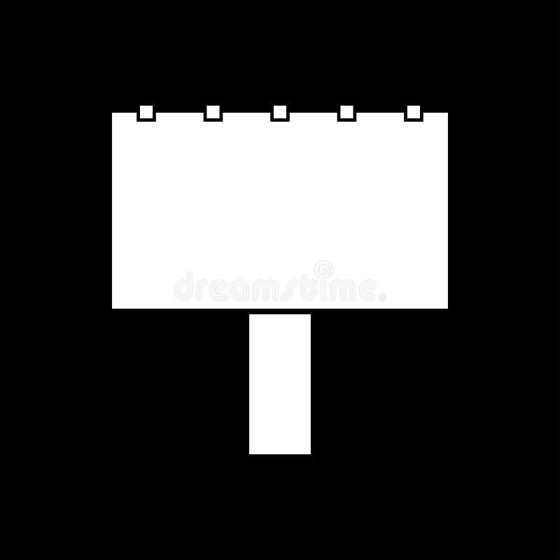 Bigboard ja jest białym ikoną ilustracji