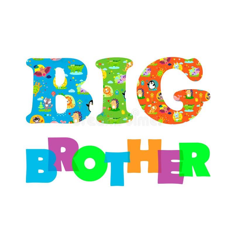 BigBroText illustration stock