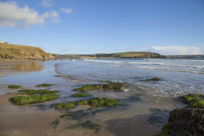 Bigbury auf Meer, Devon, England stockbild