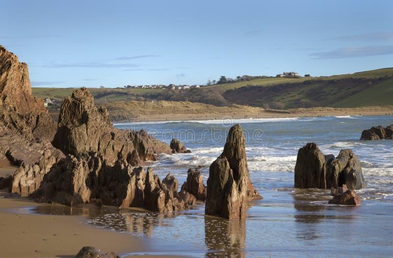 Bigbury på havet, Devon, England royaltyfria bilder