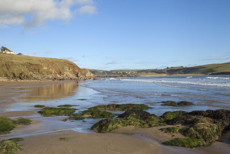 Bigbury på havet, Devon, England royaltyfri foto