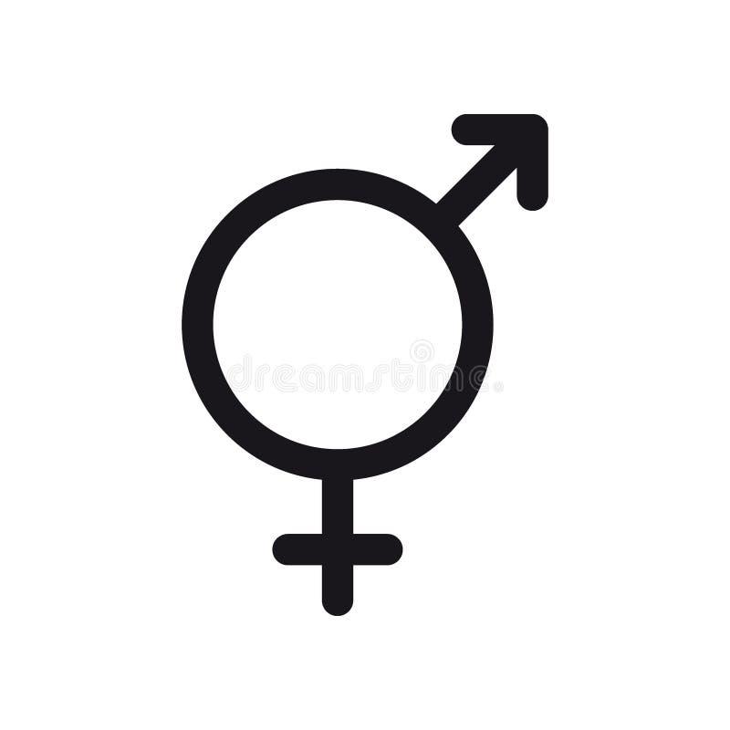 Bigender symbol Genus och symbol för sexuell riktning för bi eller teckenbegrepp vektor illustrationer