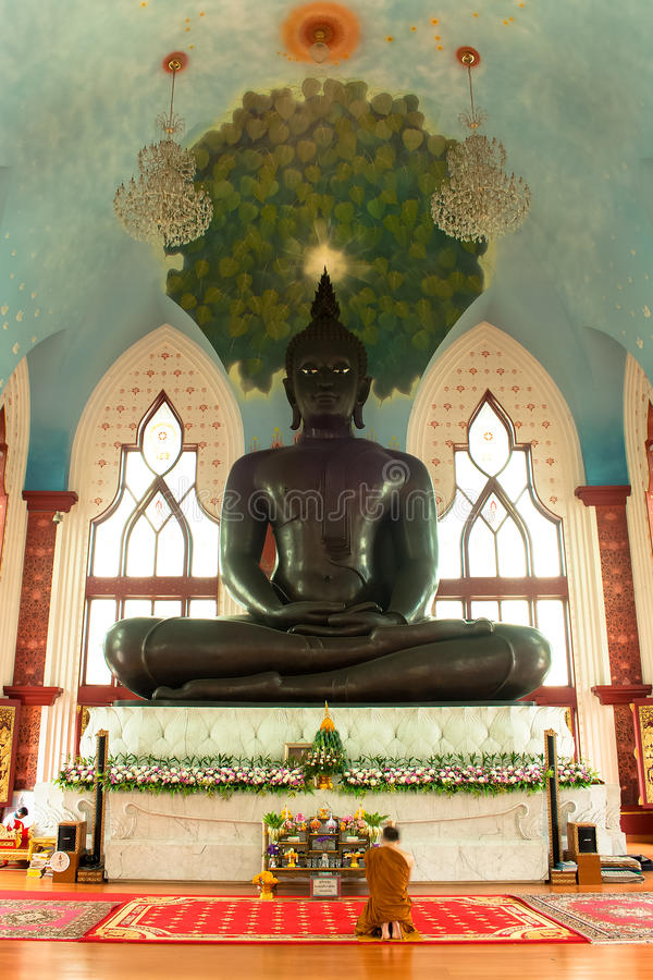 The Bigest Buddha Steel Stature. The Biggest Buddha Steel Stature @ Cathedral of Dhammamongkol temple in Bangkok royalty free stock photography