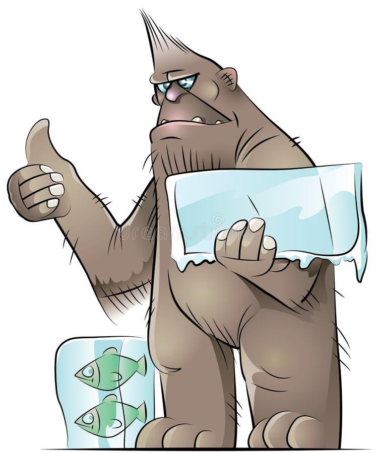 bigfoot ilustracja wektor
