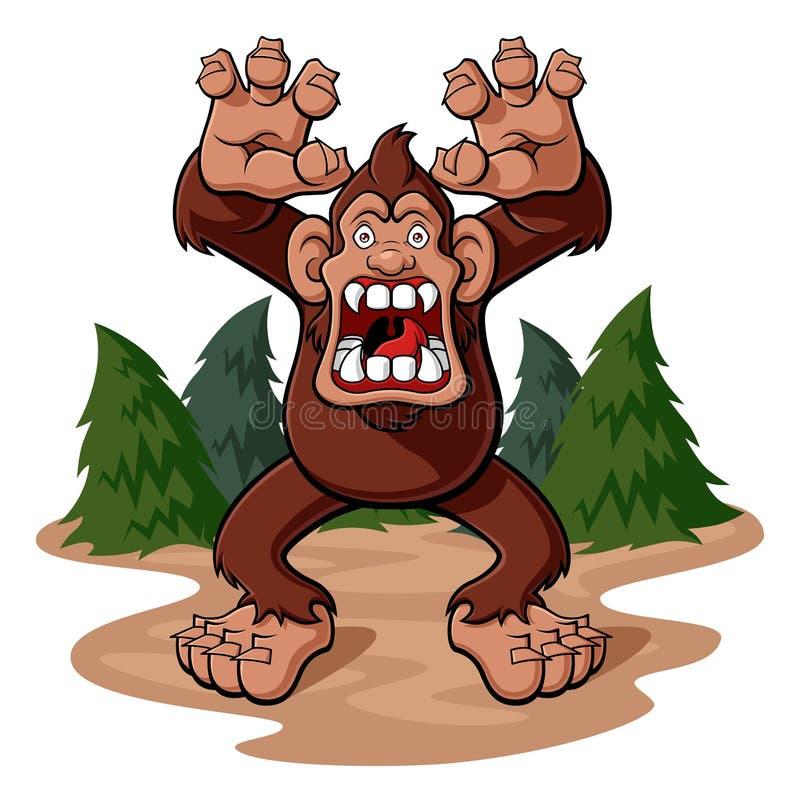 bigfoot royalty ilustracja