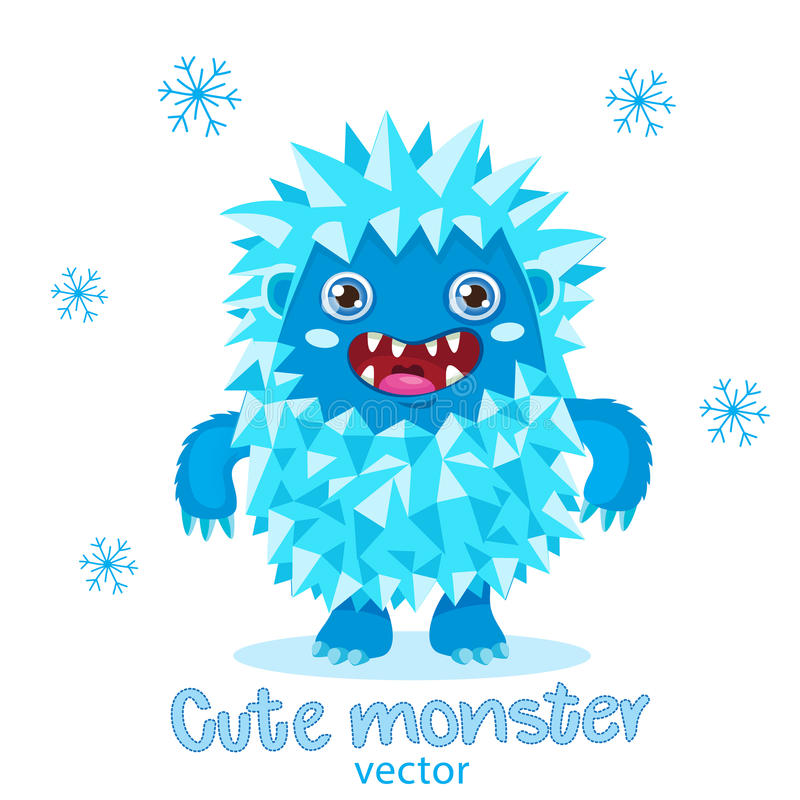 Bigfoot Cartoon Mascot. Funny Yeti On A White Background. royalty free stock images