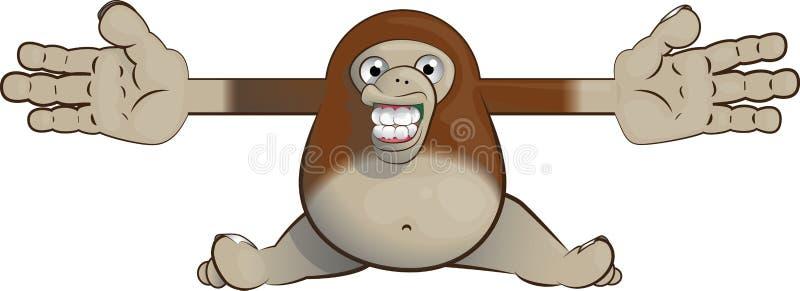 Bigfoot donnant une étreinte image stock