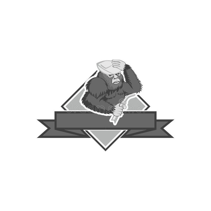 Bigfoot emblemata Spawalniczy logo ilustracja wektor