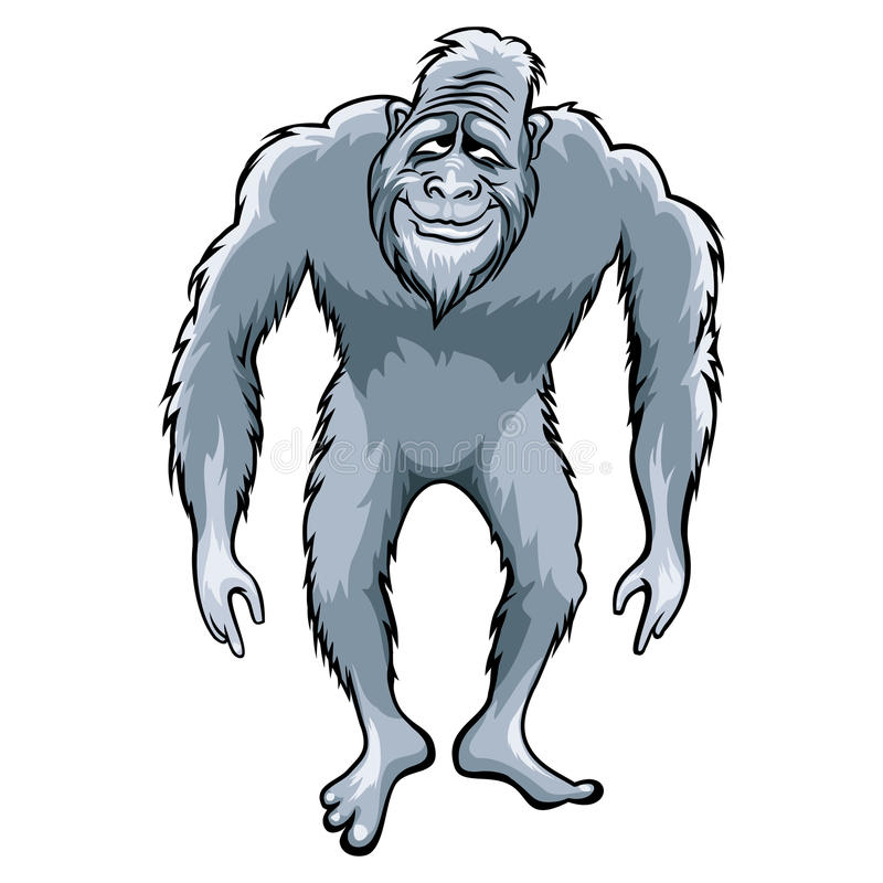 Bigfoot ilustracja royalty ilustracja