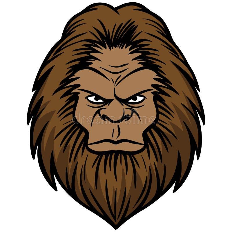 Bigfoot-Kopf stock abbildung