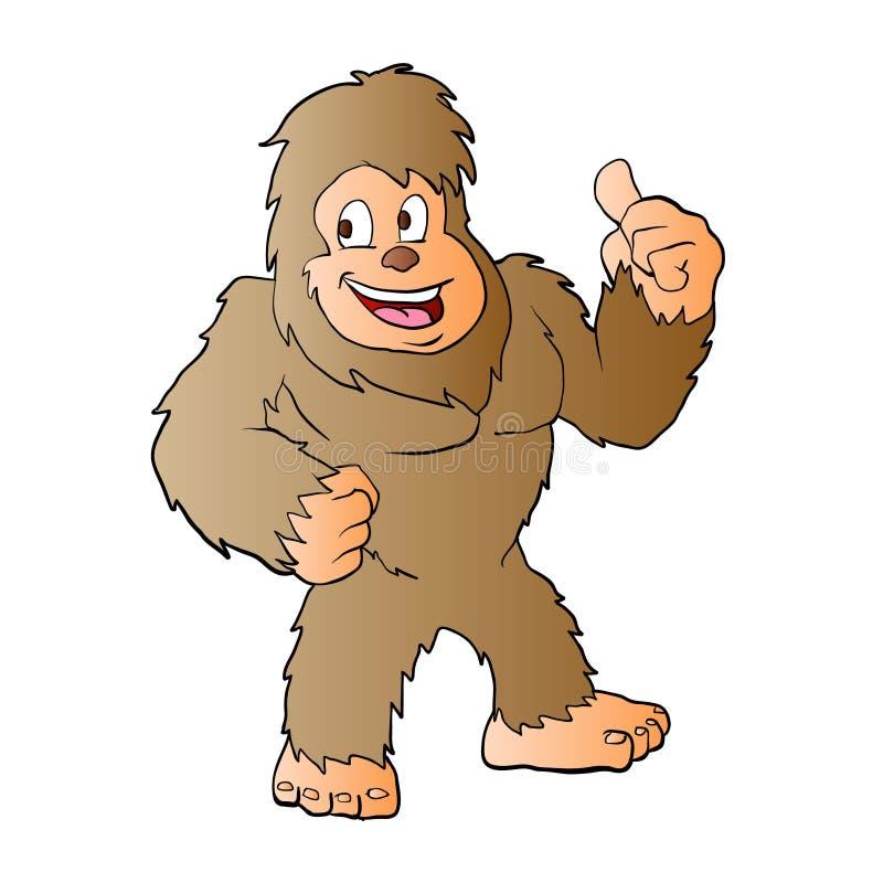 Bigfoot kreskówki ilustracja royalty ilustracja