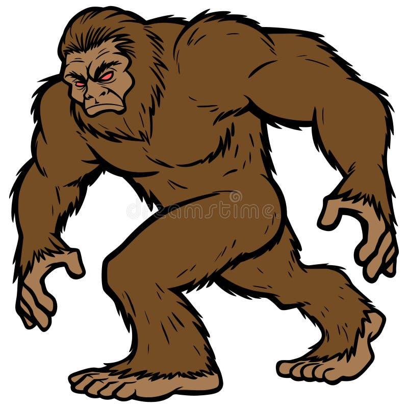 Bigfoot maskotka ilustracja wektor