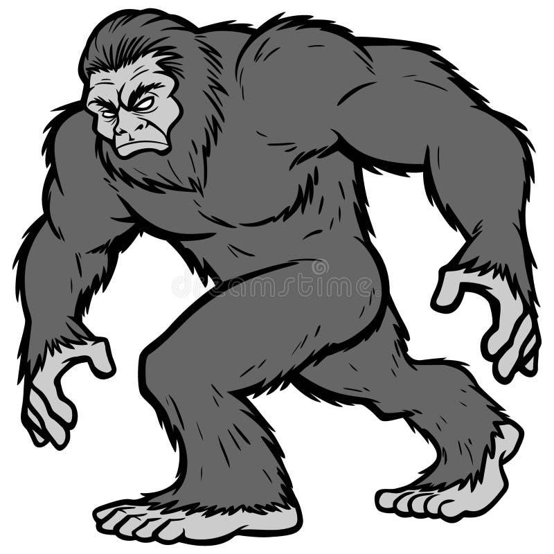 Bigfoot maskotki ilustracja ilustracji