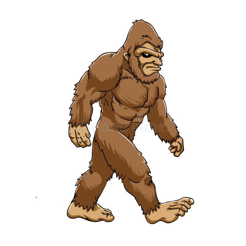 Bigfoot odprowadzenie royalty ilustracja