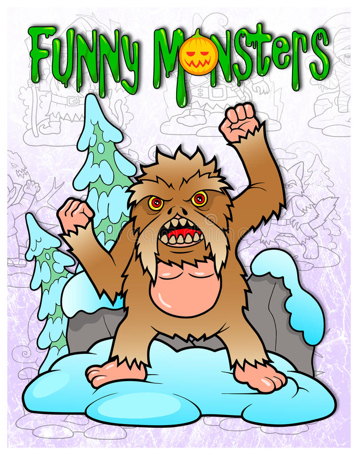 Bigfoot straszy turystów royalty ilustracja