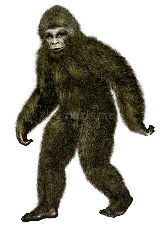 Bigfoot, Yeti stock illustratie