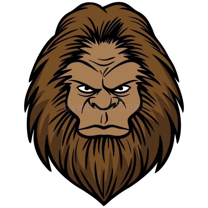 Bigfoothoofd stock illustratie