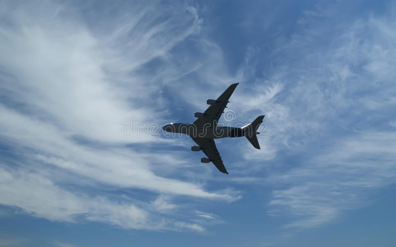 Biggest Airplane In Flight Royalty Free Stock Images