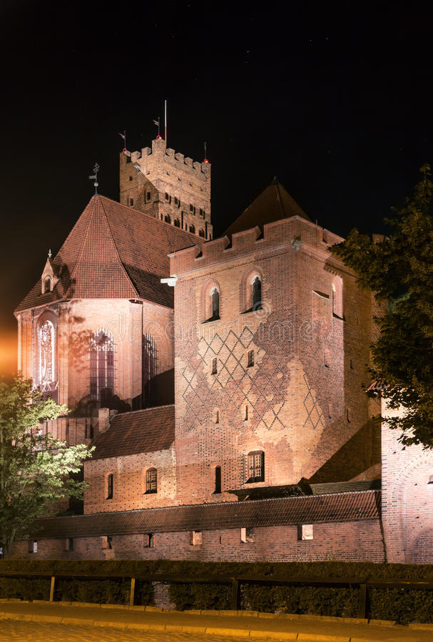 Biggest castle in Europe. Malbork in Poland. Polish castle Malbork. Gothic style. Formerly seat of Teutonic Order royalty free stock photos