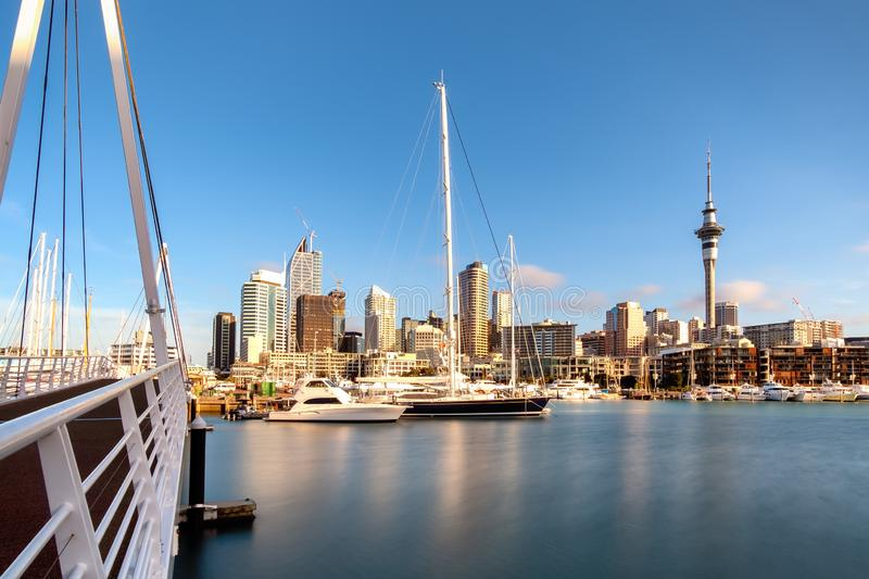 Biggest city in New Zealand Auckland North Island. Auckland City New Zealand. Biggest city in New Zealand North Island. New Zealand financial district and royalty free stock image