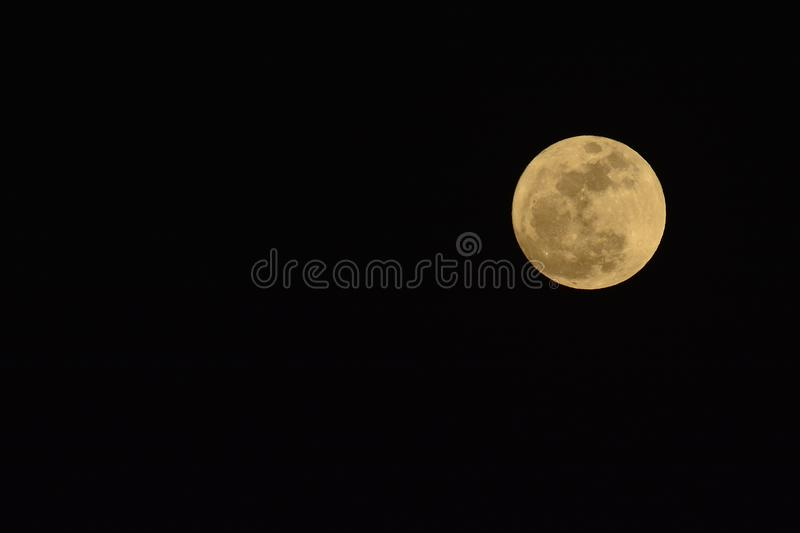 The biggest, closest, brightest Supermoon of the Year stock photo
