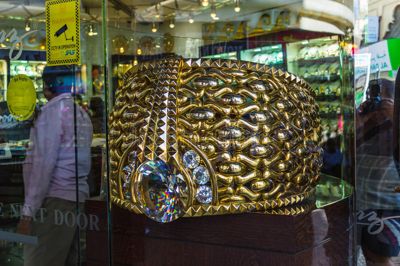 Biggest Gold Ring In Deira Gold Souq Editorial Image - Image of